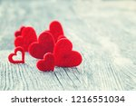 valentines day background. red... | Shutterstock . vector #1216551034