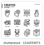 creative icon set | Shutterstock .eps vector #1216553071