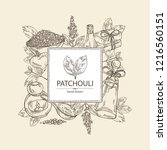 background with patchouli ... | Shutterstock .eps vector #1216560151