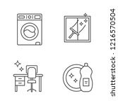 cleaning service linear icons... | Shutterstock .eps vector #1216570504