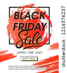 black friday sale banner... | Shutterstock .eps vector #1216576237