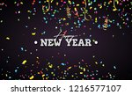 2019 happy new year... | Shutterstock .eps vector #1216577107