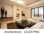 travertine house  interior of... | Shutterstock . vector #121657981