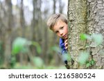 enjoying my childhood. little... | Shutterstock . vector #1216580524