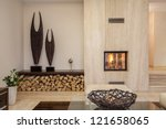 travertine house  interior of... | Shutterstock . vector #121658065