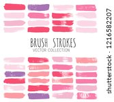beauty and cosmetics brush... | Shutterstock .eps vector #1216582207