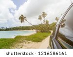 road trip. view of the beach... | Shutterstock . vector #1216586161