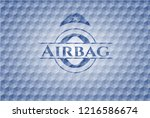 airbag blue badge with... | Shutterstock .eps vector #1216586674