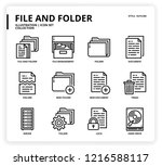 file and folder icon set | Shutterstock .eps vector #1216588117