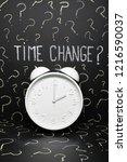 clock changes european union... | Shutterstock . vector #1216590037