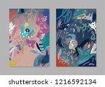 creative universal artistic...   Shutterstock .eps vector #1216592134