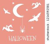halloween 2019 vector... | Shutterstock .eps vector #1216592581