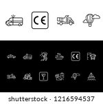 delivery icon set and bus...
