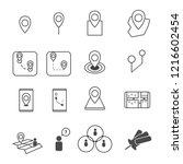 gps navigation map concept... | Shutterstock .eps vector #1216602454