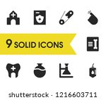 healthcare icons set with blood ...