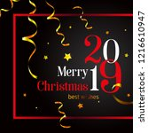 2019. merry christmas stylish...   Shutterstock .eps vector #1216610947