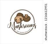 mushroom logo design | Shutterstock .eps vector #1216612951