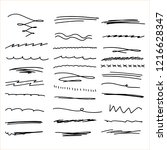 handmade collection set of... | Shutterstock .eps vector #1216628347