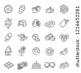 set vector line icons in flat... | Shutterstock .eps vector #1216652281