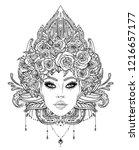 tribal fusion boho diva.... | Shutterstock .eps vector #1216657177