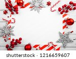 christmas ornament made of red... | Shutterstock . vector #1216659607