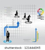 template of a group of business ...   Shutterstock .eps vector #121666045