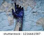 geographic map background... | Shutterstock . vector #1216661587