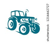 tractor simple vector on white...   Shutterstock .eps vector #1216662727