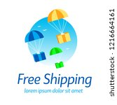 free shipping  postal parcels...   Shutterstock .eps vector #1216664161