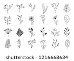 set of rustic vintage hand... | Shutterstock .eps vector #1216668634