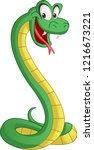 cartoon cute snake. vector... | Shutterstock .eps vector #1216673221