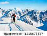 Skitouring With Amazing View Of ...
