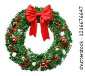 Christmas wreath  red ribbon...