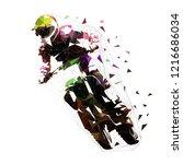 motocross racing  low polygonal ...   Shutterstock .eps vector #1216686034