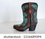 Souvenir Cowboy Boot Isolated...
