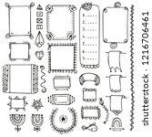 bullet journal hand drawn... | Shutterstock .eps vector #1216706461