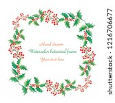watercolor decorative christmas ...   Shutterstock . vector #1216706677