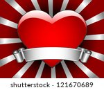 red heart with banner | Shutterstock .eps vector #121670689