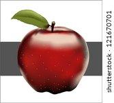 red apple | Shutterstock .eps vector #121670701
