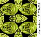 seamless pattern. tribal... | Shutterstock .eps vector #1216714531