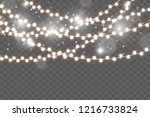 christmas lights isolated on...   Shutterstock .eps vector #1216733824