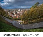 beautiful autumn colors on the... | Shutterstock . vector #1216743724