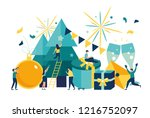 vector illustration small... | Shutterstock .eps vector #1216752097