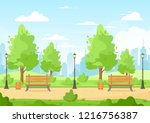 vector illustration of city... | Shutterstock .eps vector #1216756387