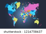 color world map vector | Shutterstock .eps vector #1216758637