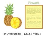 pineapple tropical plant edible ... | Shutterstock .eps vector #1216774837