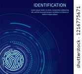 identification poster with text ... | Shutterstock .eps vector #1216775671