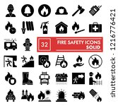 fire safety glyph icon set ... | Shutterstock .eps vector #1216776421