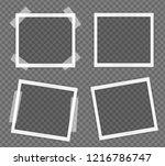 pack of  square frame template...   Shutterstock .eps vector #1216786747
