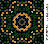 seamless arabic pattern. vector ...   Shutterstock .eps vector #1216803211
